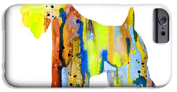 Terrier Art iPhone Cases - Wheaten Terrier  iPhone Case by Luke and Slavi