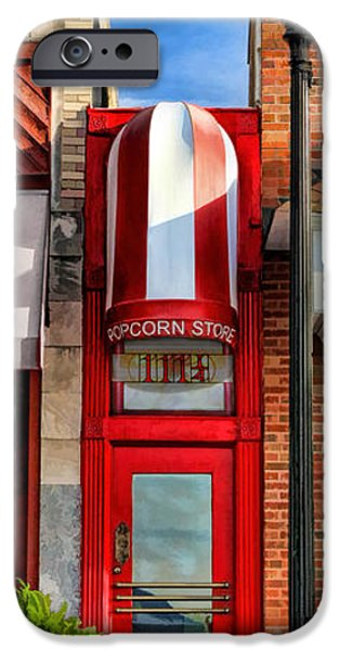 Recently Sold -  - Little iPhone Cases - Wheaton Little Popcorn Shop Panorama iPhone Case by Christopher Arndt