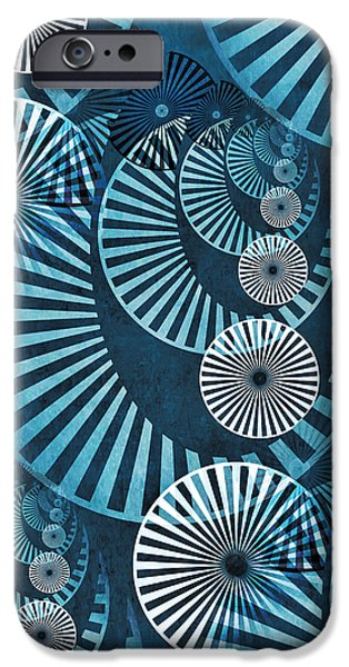 Gear Mixed Media iPhone Cases - Wheel In The Sky 1 iPhone Case by Angelina Vick