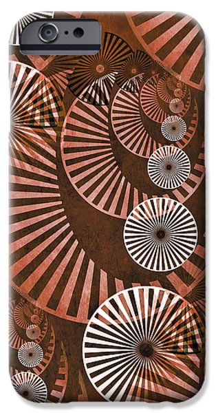 Gear Mixed Media iPhone Cases - Wheel In The Sky 2 iPhone Case by Angelina Vick