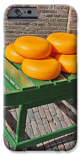 Wheels of Dutch Gouda Cheese iPhone Case by Artur Bogacki
