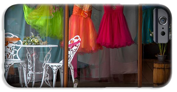 Shop Window iPhone Cases - WHEN a WOMAN DREAMS iPhone Case by Karen Wiles