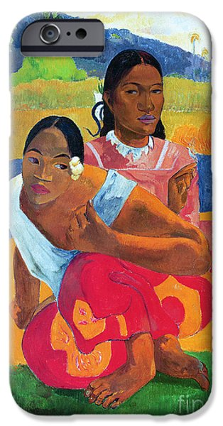 Painter Paintings iPhone Cases - When Are You Getting Married iPhone Case by Paul Gauguin