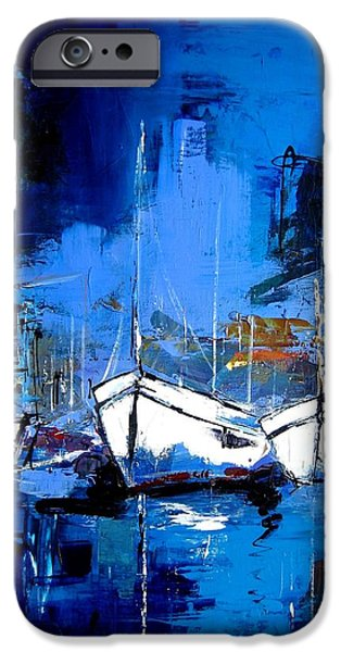 Boat iPhone Cases - When Evening Comes iPhone Case by Elise Palmigiani