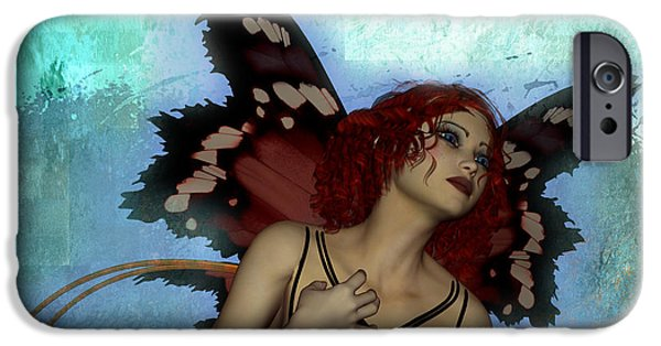 Torn iPhone Cases - When fairies cry iPhone Case by Nelieta Mishchenko