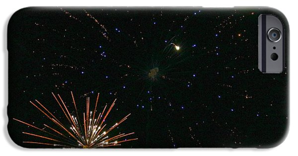 Fourth Of July Mixed Media iPhone Cases - When Galaxies Explode iPhone Case by Chas Burnam