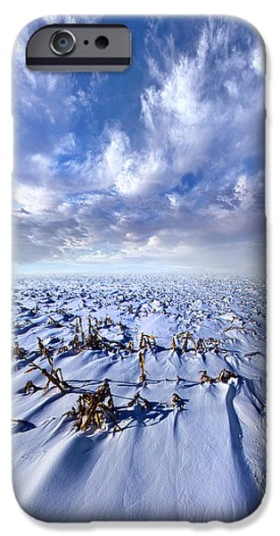 Snow iPhone Cases - When Gone Comes Back iPhone Case by Phil Koch