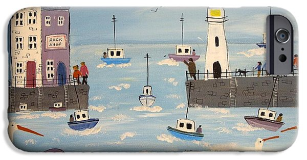 Recently Sold -  - Pastel iPhone Cases - When The Boat Comes In iPhone Case by Trudy Kepke