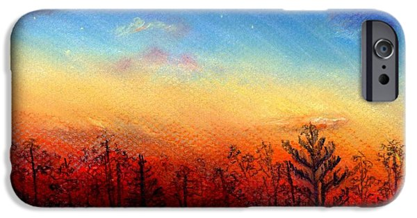 Mist Drawings iPhone Cases - When the Heavens Sing iPhone Case by Shana Rowe