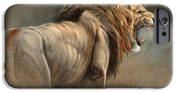 Lion Art iPhone Cases - When The King Speaks iPhone Case by Aaron Blaise