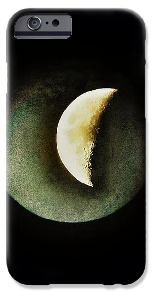 Moon iPhone Cases - When The Moons Collide iPhone Case by Marianna Mills