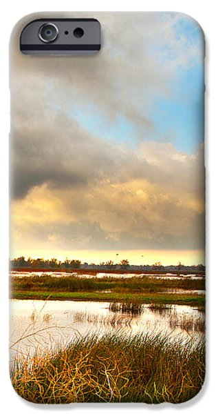 When the Rain Stopped Over Gray Lodge iPhone Case by Artist and Photographer Laura Wrede