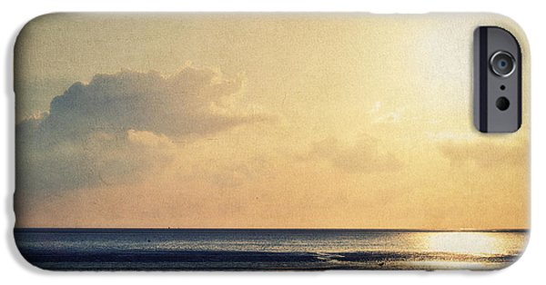 Wadden Sea iPhone Cases - When the sun goes down... iPhone Case by Angela Doelling AD DESIGN Photo and PhotoArt