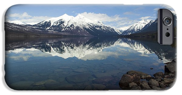 Daysray Photography iPhone Cases - When the Sun Shines on Glacier National Park iPhone Case by Fran Riley