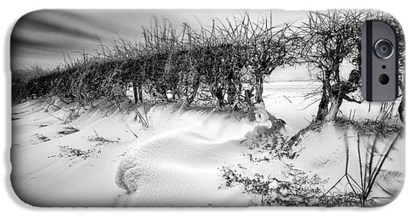 Drifting Snow Photographs iPhone Cases - When the wind blows iPhone Case by John Farnan