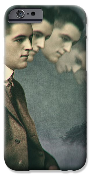 Thinking Digital iPhone Cases - When thinking goes too far iPhone Case by Martine Roch