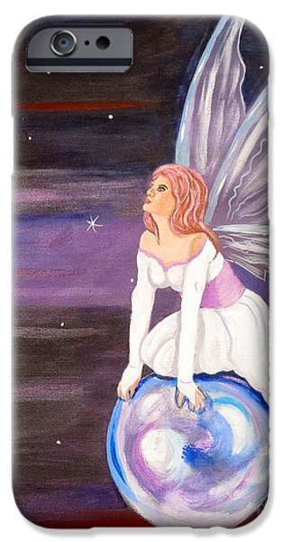 Night Angel iPhone Cases - When You Dream iPhone Case by Phyllis Kaltenbach