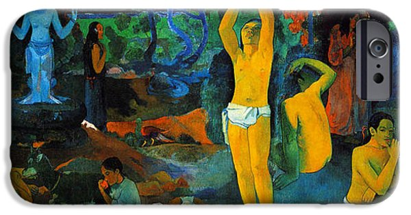 Figures iPhone Cases - Where Do We Come From. What Are We Doing. Where Are We going iPhone Case by Paul Gauguin