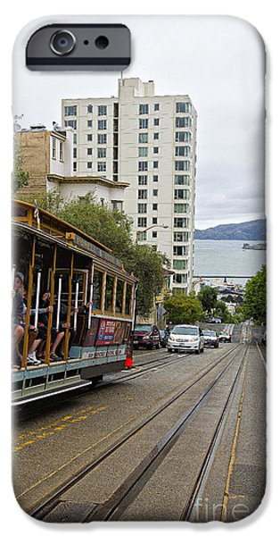 Alcatraz iPhone Cases - Where little cable cars... iPhone Case by David Bearden
