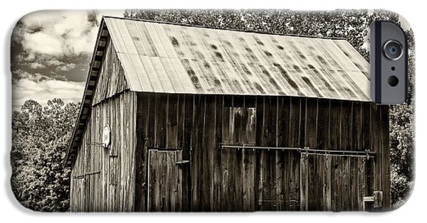 Old Barn Photo Photographs iPhone Cases - Where March Madness Begins sepia 2 iPhone Case by Steve Harrington