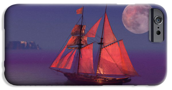 Ocean Sunset iPhone Cases - Where no breakers roar iPhone Case by John Edwards