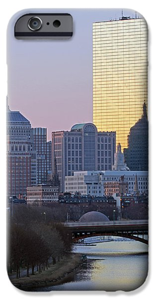 Longfellow Bridge iPhone Cases - Where Old and New Meet iPhone Case by Juergen Roth