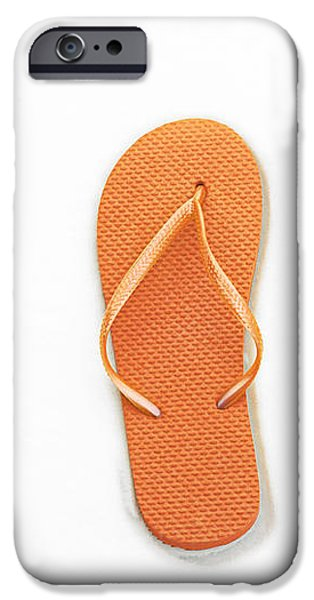 Where On Earth Is Spring - My Orange Flip Flops Are Waiting iPhone Case by Andee Design