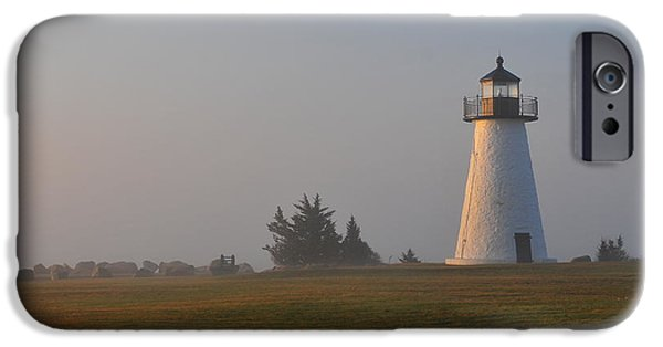 New England Lighthouse iPhone Cases - Where Peace Belongs iPhone Case by Catherine Reusch  Daley