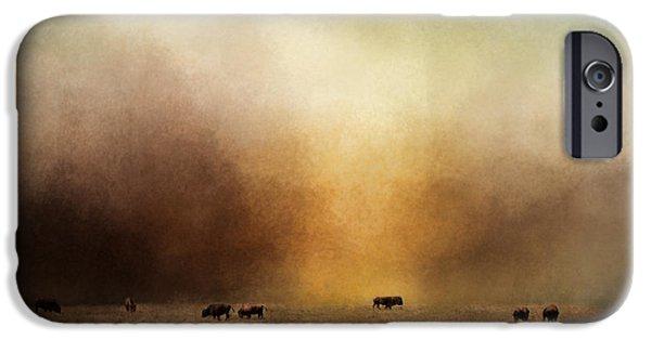 Nature Scene iPhone Cases - Where The Buffalo Roam iPhone Case by Jai Johnson