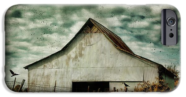 Tennessee Barn iPhone Cases - Where The Crows Roost In Autumn iPhone Case by Jai Johnson