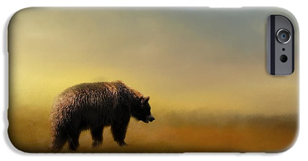 A Hot Summer Day iPhone Cases - Where The Grizzly Roams iPhone Case by Jai Johnson