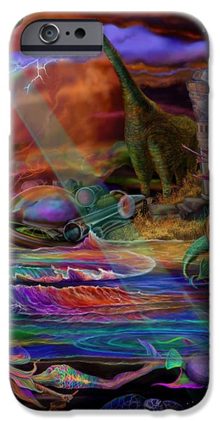 Where the Mermaids Meet iPhone Case by Frances McCloskey