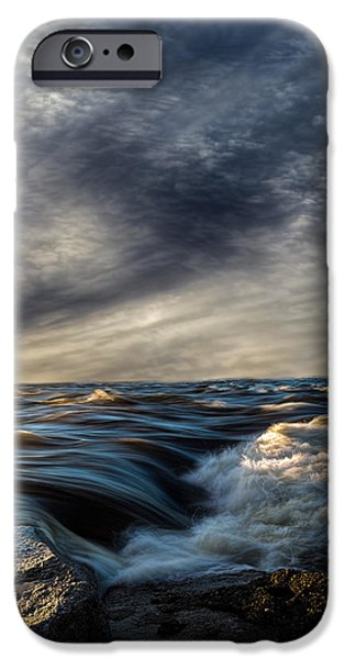 Ocean Sunset iPhone Cases - Where The River Kisses The Sea iPhone Case by Bob Orsillo