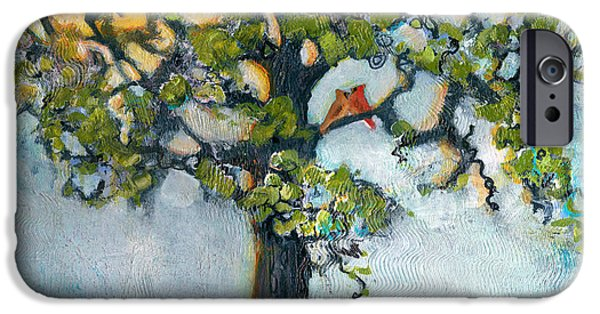 Tree Art iPhone Cases - Where There is Love  iPhone Case by Blenda Studio