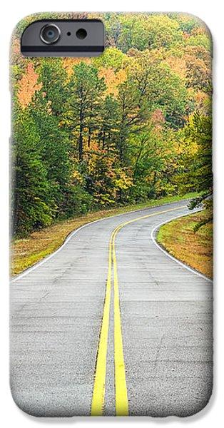 Where this Road will Take You - Talimena Scenic Highway - Oklahoma - Arkansas iPhone Case by Silvio Ligutti