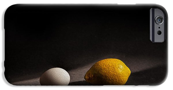 Fruit Still Life iPhone Cases - Which Came First iPhone Case by Peter Tellone