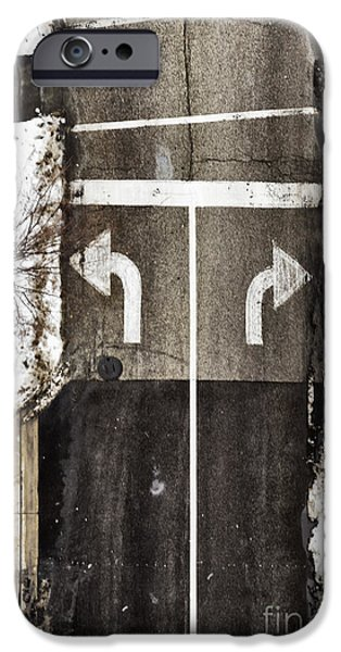 Which Way iPhone Case by Margie Hurwich
