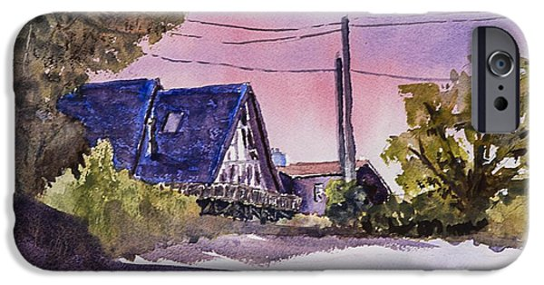 Loose Style Paintings iPhone Cases - Whidbey Getaway iPhone Case by Barry Jones