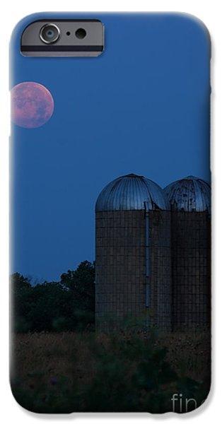 Super Moon iPhone Cases - While Everyone Sleeps iPhone Case by Lisa Holmgreen