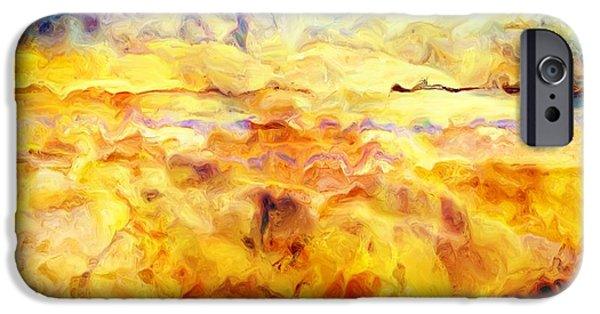 Painter Photo Digital Art iPhone Cases - While Taking A Walk iPhone Case by Jack Zulli