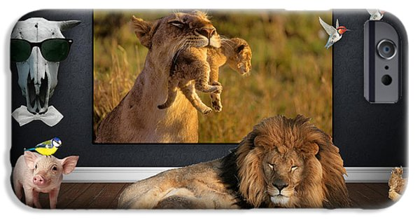 Birds iPhone Cases - While The Lion Sleeps Tonight iPhone Case by Marvin Blaine