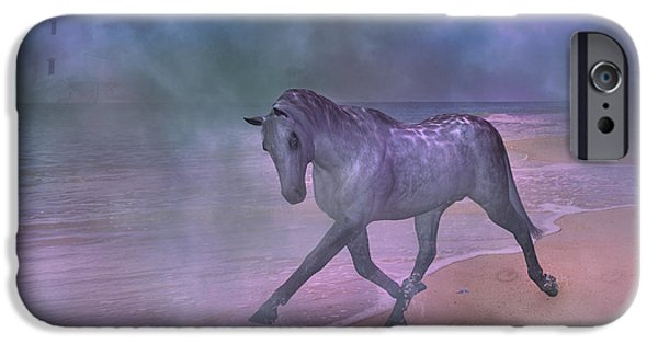 Fog Mist Mixed Media iPhone Cases - While We Sleep iPhone Case by Betsy A  Cutler