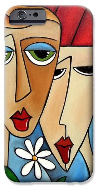Dog Abstract Art iPhone Cases - While Were Young iPhone Case by Tom Fedro - Fidostudio