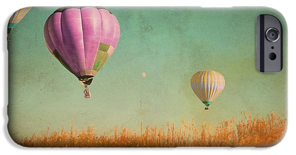 Hot Air Balloon iPhone Cases - Whimsical Realities iPhone Case by Violet Gray