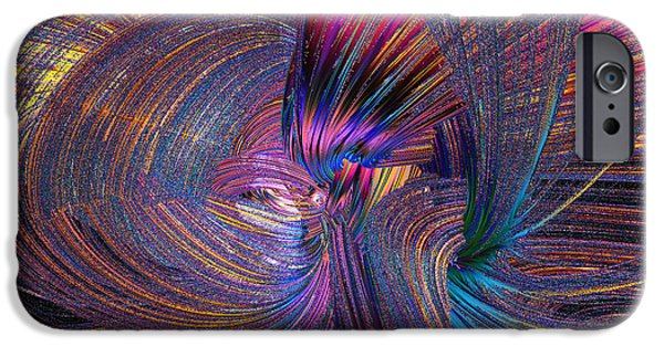 Business Digital Art iPhone Cases - Whirling iPhone Case by Michael Durst