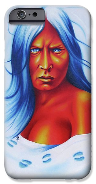 Airbrush iPhone Cases - Whirlwind Woman iPhone Case by Robert Martinez