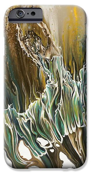 Emotion Paintings iPhone Cases - Whisper iPhone Case by Karina Llergo Salto