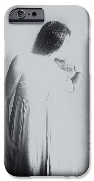 Gray Hair iPhone Cases - Whisper iPhone Case by Margie Hurwich