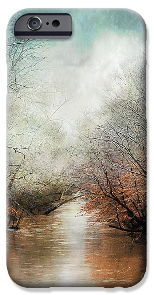 Snow Scene iPhone Cases - Whisper of Winter iPhone Case by Jai Johnson