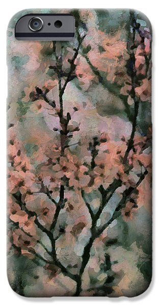 whispering cherry blossoms iPhone Case by Janice MacLellan